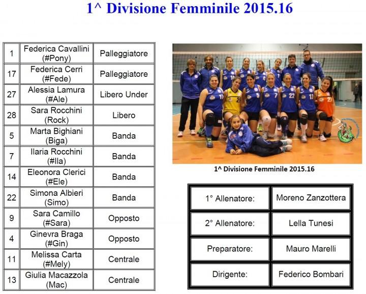 1^ Divisione Femminile 2015.16 - PSG